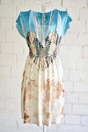Sommerkleid mit Federnmuster - Stretchkleid