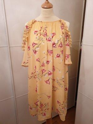Cut out jurk veelkleurig Polyester