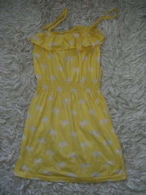Denim Co. Beach Dress yellow-white