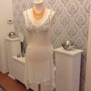 Sommerkleid mit Perlen weiß Gr. 36 super Zustand!