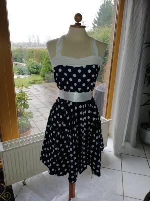 Sommerkleid mit Polka Dots, Gr. 36 /38