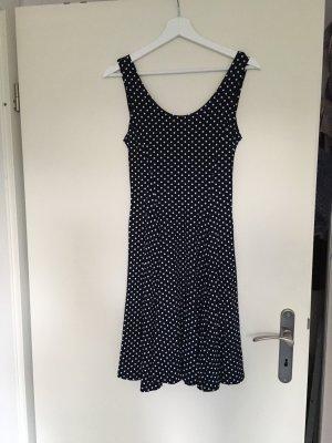 Jersey Dress black-white