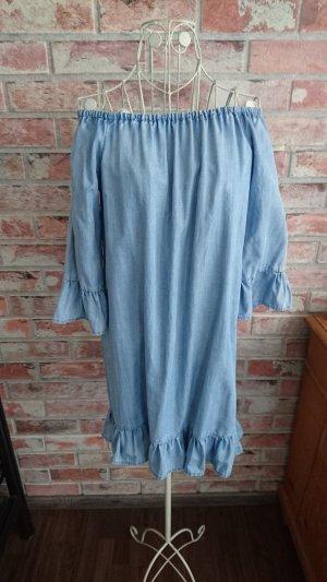 Only Off-The-Shoulder Dress light blue