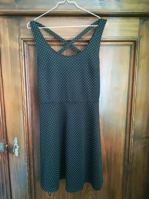 H&M Jersey Dress white-black