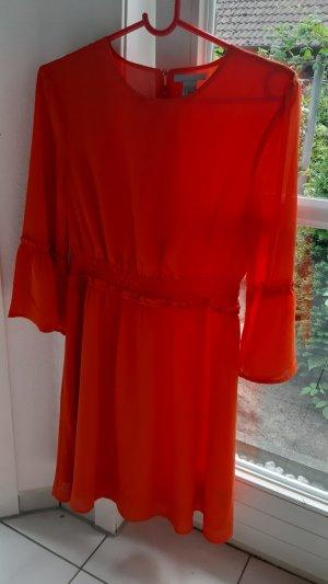 H&M Vestido estilo flounce naranja