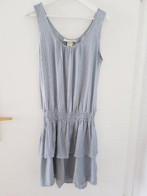 H&M Vestido estilo flounce azul claro