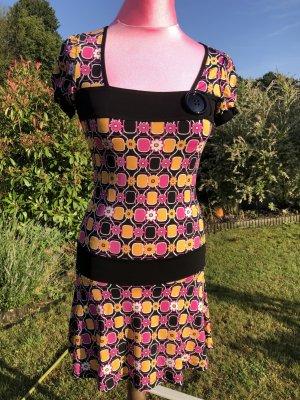 Sommerkleid, Mötivi, Made in Italy, bunt, gelb/rosa, Gr. XS, Neu