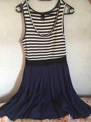 H&M Divided Vestito da spiaggia blu scuro-bianco