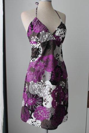 Sommerkleid Neckholder 100% Baumwolle H&M Gr. 38 seitlicher Reißverschluss