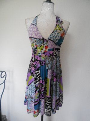 Halter Dress multicolored polyester