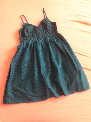 Yessica Vestido tipo overol marrón-negro-petróleo