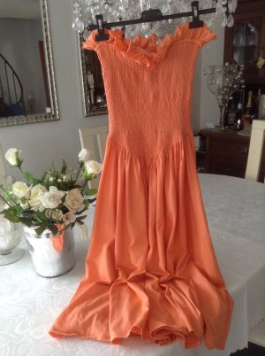 Sommerkleid / orange / Gr 34 XS