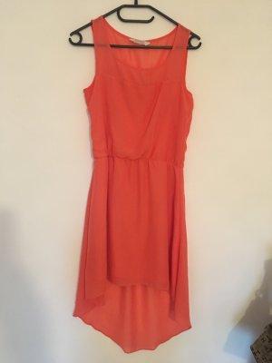 Sommerkleid orange vorne kurz hinten lang