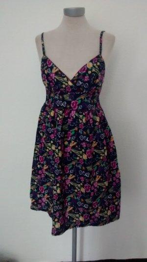 Sommerkleid Papaya Gr. UK 10 38 S M Blumen neu Baumwolle Minikleid Kleid kurz