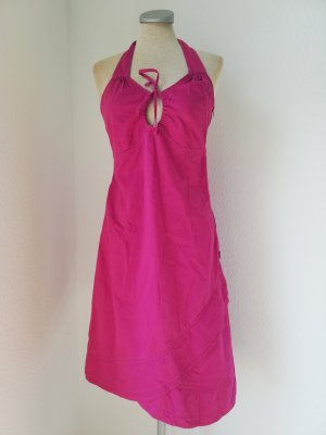 Summum Halter Dress pink-neon pink cotton