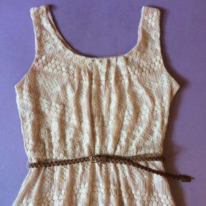 Sommerkleid Pink mit Spitze von As U Wish - Größe S/M NEU
