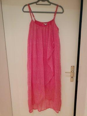 Sommerkleid pink mit weißen Tupfen Gr.42