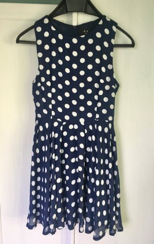 AX Paris Dress dark blue-white cotton