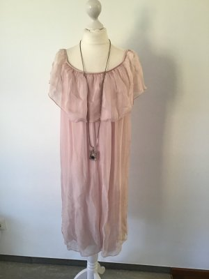 Chiffon jurk lichtroze Gemengd weefsel