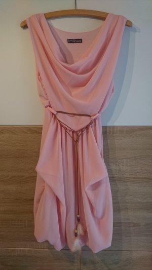 Sommerkleid rosa mit Gürtel
