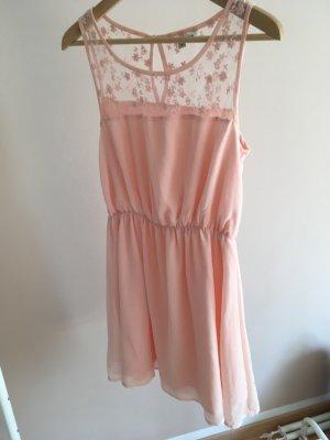 Sommerkleid rosa mit Spitze