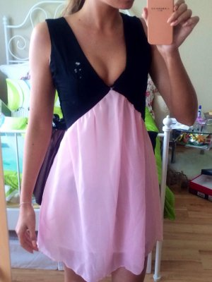 Sommerkleid rosa schwarz XS 34