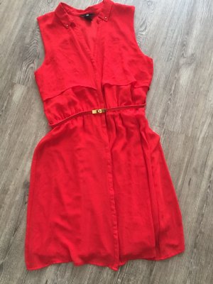 H&M Robe chemise rouge