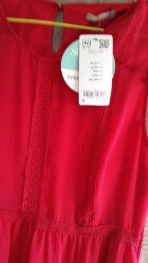 Sommerkleid Rot mit Spitze