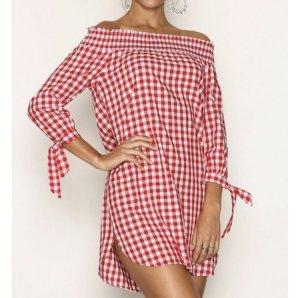 Sommerkleid rot-weiß