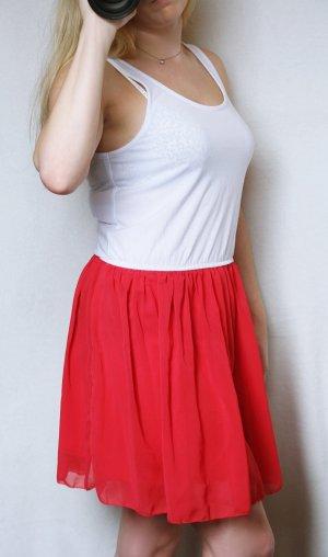 Sommerkleid rot weiß, Clockhouse, Größe 38, sehr guter Zustand