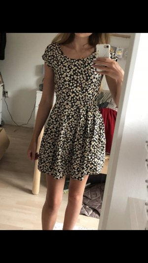 Sommerkleid schwarz creme mit Blumen