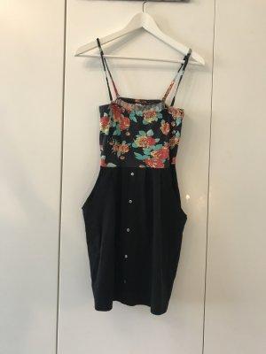 Sommerkleid Schwarz mit Blümchen