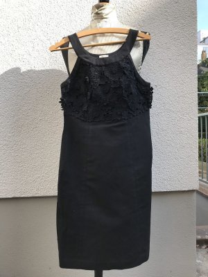 Sommerkleid, schwarz mit Spitze vorne