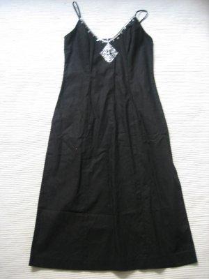sommerkleid schwarz neu gr. 36 s leinen