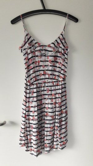Sommerkleid schwarz/weiß gestreift