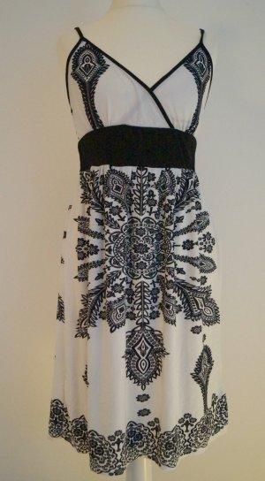 Sommerkleid schwarz weiß Muster