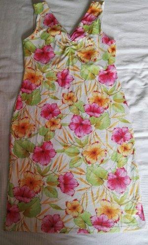 Brookshire Robe épaules nues orange doré-rose