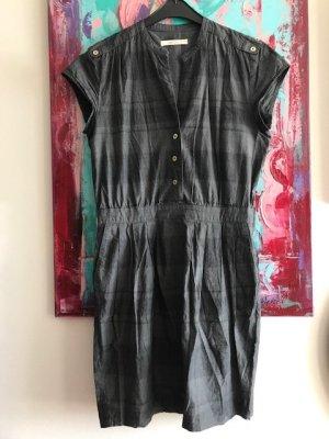 Sessun Vestido ceñido de tubo negro-gris pizarra