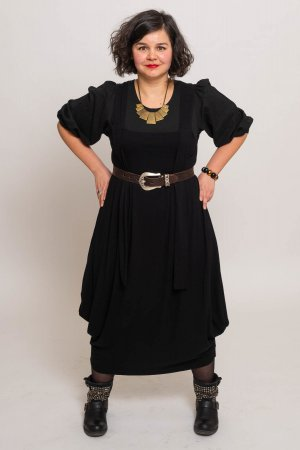 Caftan black polyester