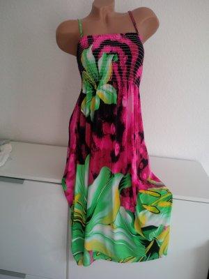 Vestido playero multicolor Poliéster