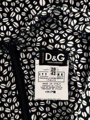 Dolce & Gabbana Vestido cut out negro-blanco puro
