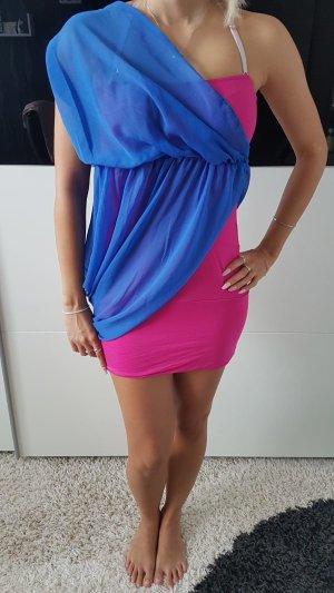 Vestido playero rosa-azul
