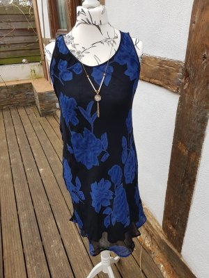 Sommerkleid Strandkleid Gr. 38 schwarz Floral