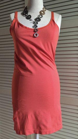 Sommerkleid Strandkleid Minikleid M/L orangerot - Neu -
