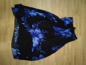 Vestido playero negro-azul