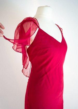 Sommerkleid - Tanzkleid, rosenrot mit Träger