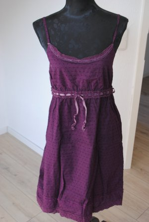 Tom Tailor Robe à bretelles violet-violet coton