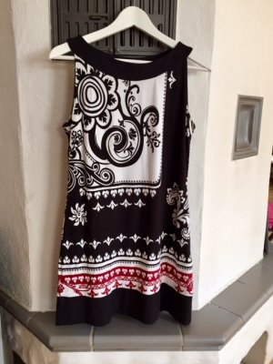 Sommerkleid#Trägerkleid#Designmotiv#Knielang
