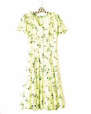 sommerkleid • true vintage • bohostyle • grün gelb
