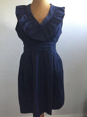 Celebrity Robe tunique bleu foncé-blanc